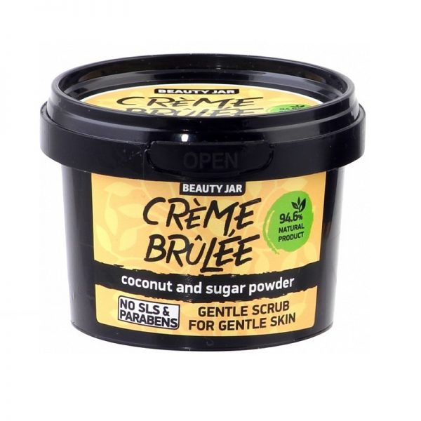 "Beauty Jar ""CRÈME BRÛLÉE"" Απαλό Scrub Για Ευαίσθητες Επιδερμίδες 120gr"