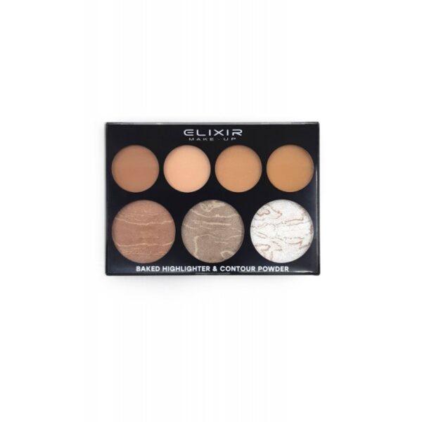 Elixir Baked Highlighter & Contour Palette 897 16,7gr
