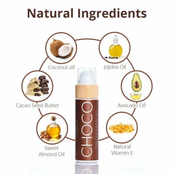 COCOSOLIS ORGANIC – CHOCO Sun Tan Body Oil, 110ml για επιτάχυνση μαυρίσματος
