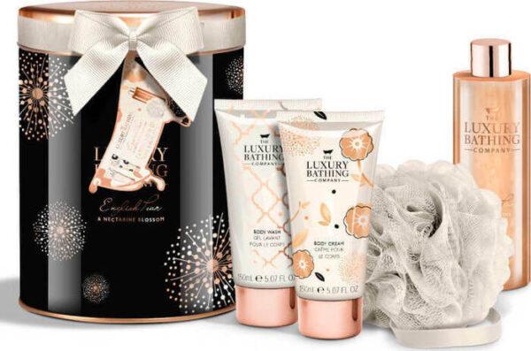 ΣΕΤ ΔΩΡΟΥ Grace Cole Pear & Nectarine Shower Gel 150ml, Body Cream 150ml, Shower Cream 250ml & Sponge
