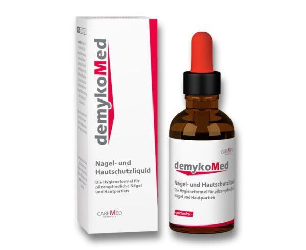 "DemykoMed ""Nagel- und Hautschutzliquid"" Η φόρμουλα υγιεινής για ευαίσθητα σε μυκητίαση νύχια και δέρμα 50 ml-Πώμα με Σταγονόμετρο"